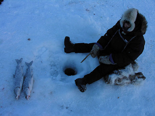 Inuit fishing