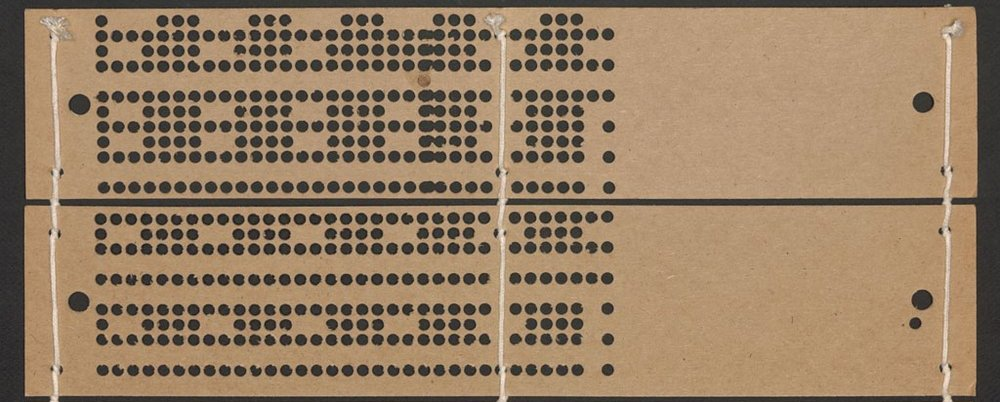 Jacquard punchcards